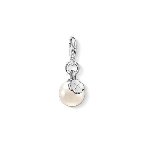 Thomas Sabo Silver Pearl and Cloverleaf Charm - 1461-082-14