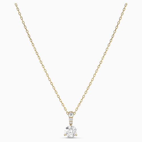 SWAROVSKI Solitaire Gold Tone Pendant Necklace  - 5511557