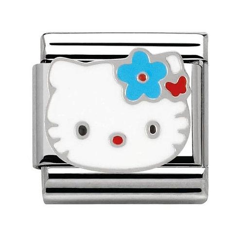 Nomination Hello Kitty Light Blue Flower Charm Link - 230290/01