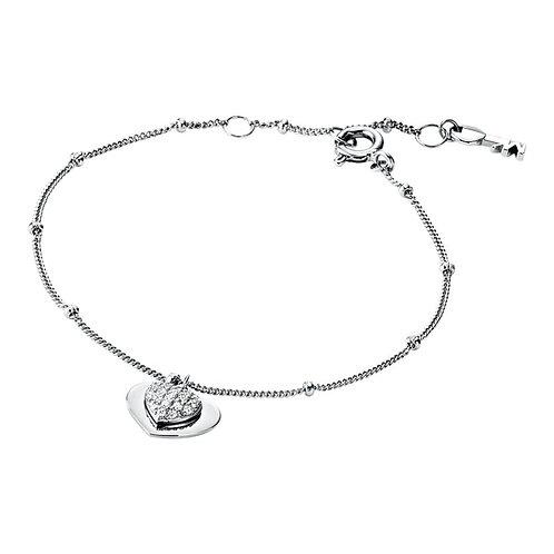 Michael Kors Sterling Silver Duo Heart Bracelet