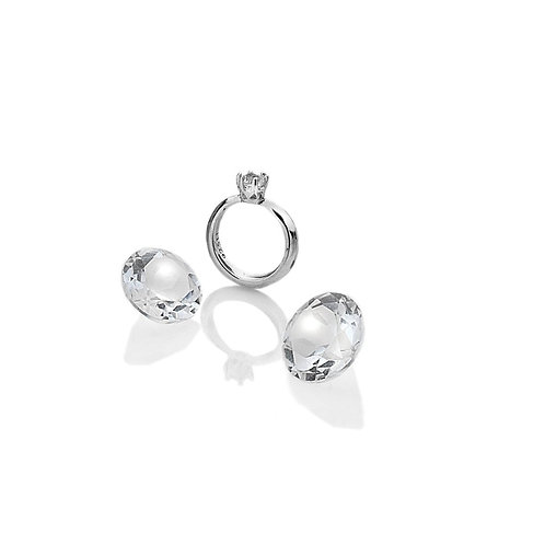 Anais by Hot Diamonds Sterling Silver Engagement Ring Charm - AC051