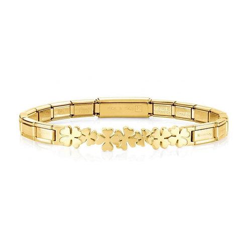 Nomination Trendsetter Clover Symbol Yellow Gold Bracelet 021111/007