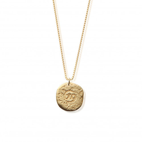 ChloBo Gold Plated Sterling Silver Cancer Starsign Necklace