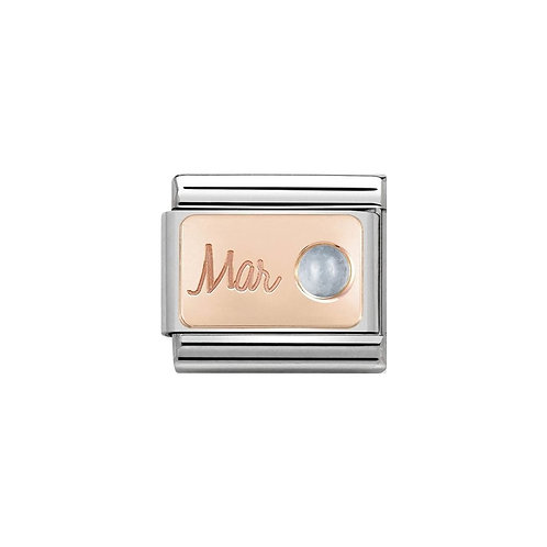 Nomination Rose Gold March Birthstone Charm Link - 430508/03