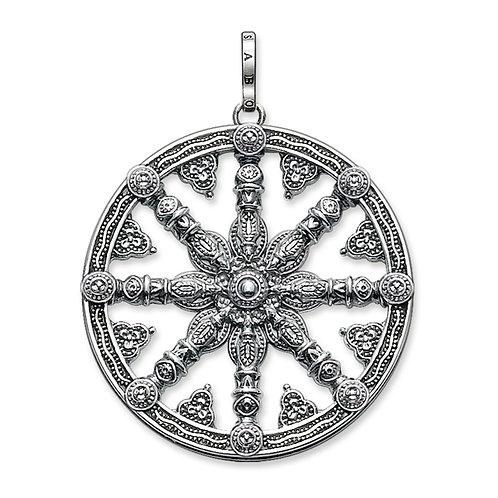 Thomas Sabo Silver Karma Wheel Pendant - PE667-001-12