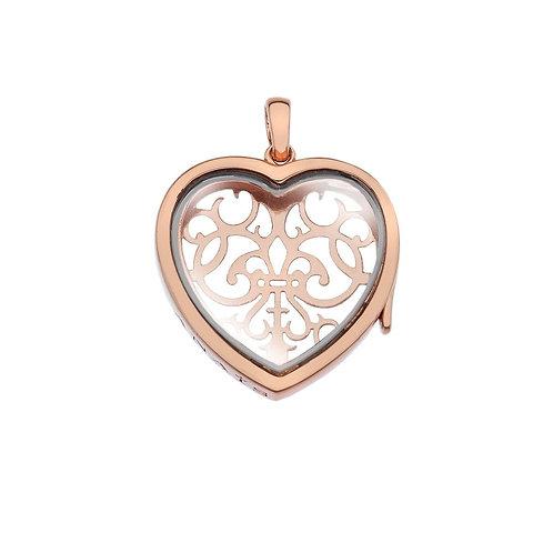 Anais by Hot Diamonds Sterling Silver Rose Gold Medium Love Heart Locket - AL013