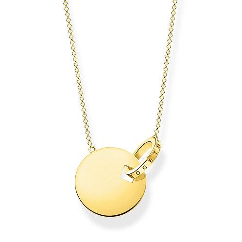 Thomas Sabo Gold Tone Together Forever Necklace - KE1947-413-39-L45V