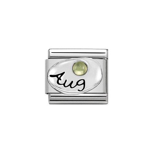 Nomination Silvershine August Birthstone Charm Link - 330505/08
