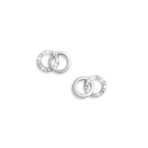 Olivia Burton The Classics Interlink Chain Earrings Silver - OBJCOE74