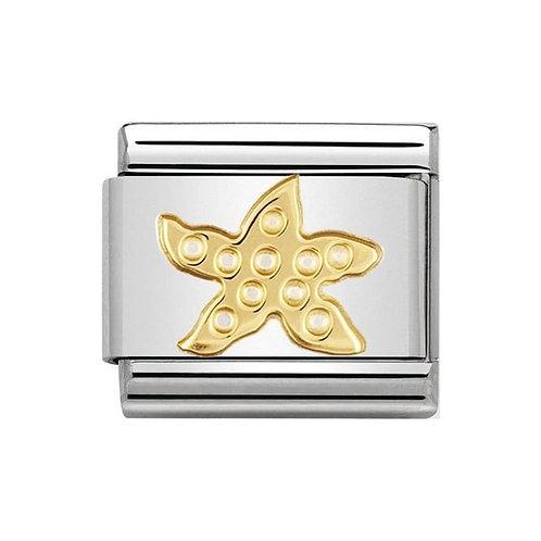 Nomination Gold Starfish Charm Link - 030113/11