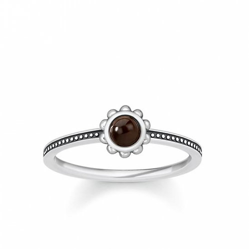 Thomas Sabo Silver Tiger's Eye Ethno Ring - TR2151-826-2-54