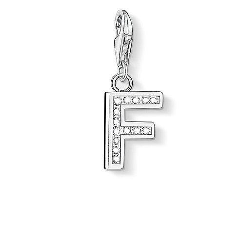 Thomas Sabo Silver CZ Letter F Charm - 0228-051-14