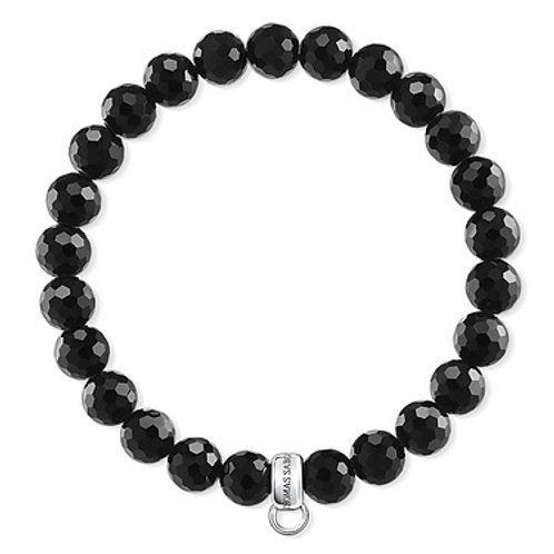 Thomas Sabo Silver Charm Club Black Obsidian Bracelet - X0220-840-11