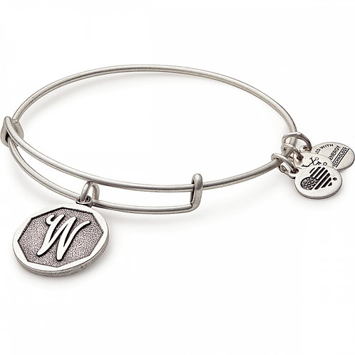 Alex and Ani Rafaelian Silver Initial W Charm Bangle - A13EB14WS