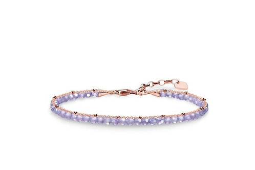 Thomas Sabo Glam and Soul Amethyst and Rose Gold Bracelet