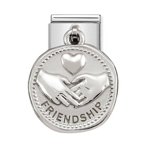 Nomination Silvershine Friendship Dangle Charm Link - 331804/04