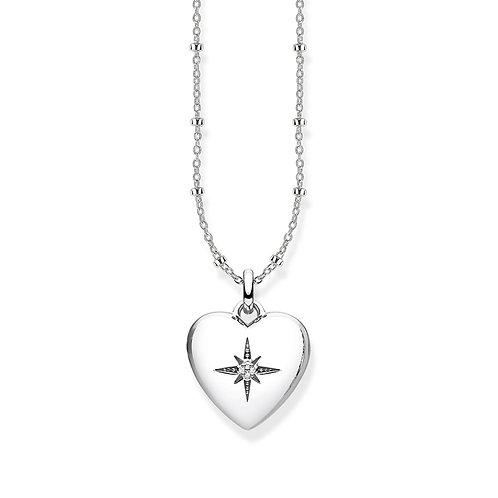 Thomas Sabo Sterling Silver Diamond Heart Locket Necklace - D_KE0035-356-14