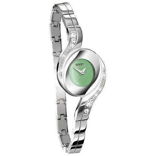 Sekonda Seksy Ladies Stone Set Green Face Watch - 4881
