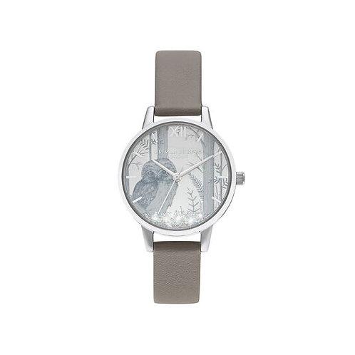 Olivia Burton Owl Snow Globe Vegan Grey Watch - OB16SG10