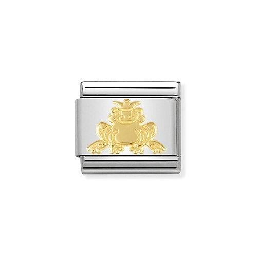 Nomination Gold Fantasia Frog Prince Charm Link - 030149/08