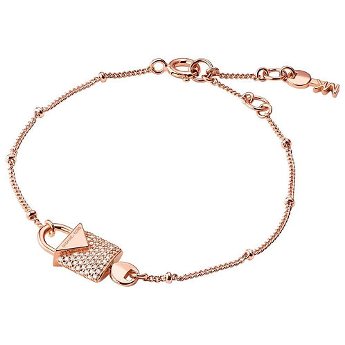 Michael Kors Colour Rose Gold Padlock Bracelet