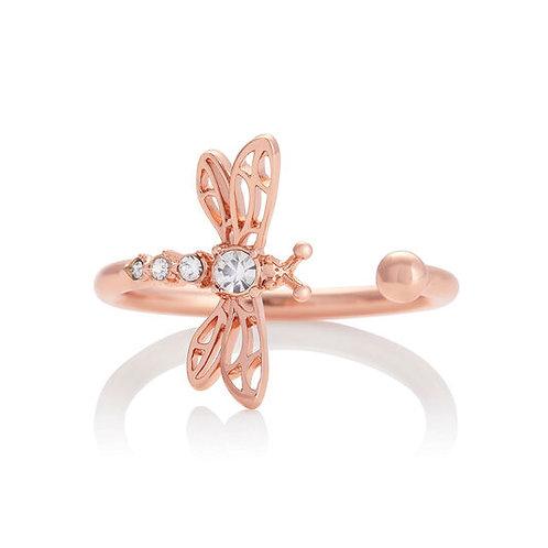 Olivia Burton Dancing Dragonfly Rose Gold Tone Ring - OBJAMR47
