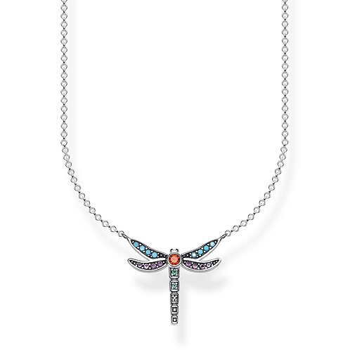 Thomas Sabo Sterling Silver Colourful Dragonfly Necklace - KE1837-845-7