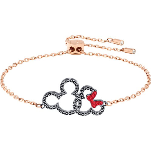 SWAROVSKI Mickey and Minnie Rose Gold Tone Bracelet - 5435138