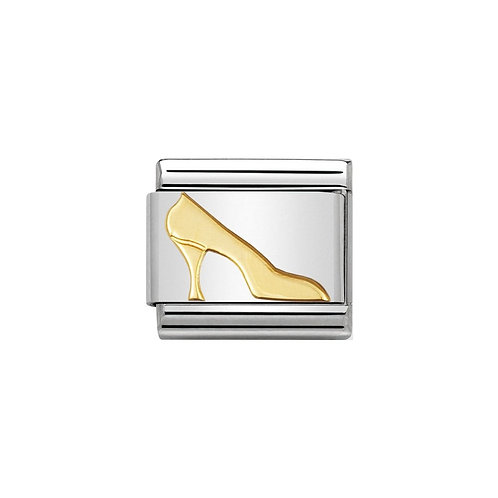 Nomination Gold High Heel Shoe Charm Link - 030109/08