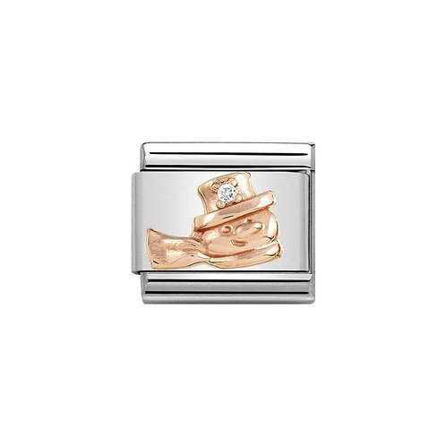 Nomination Rose Gold Classic Snowman Charm Link - 430305/20