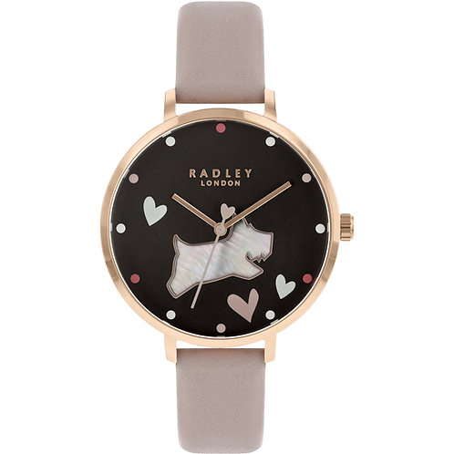 RADLEY Ladies Love Me Love My Dog Dusky Pink Leather Strap Watch - RY2678