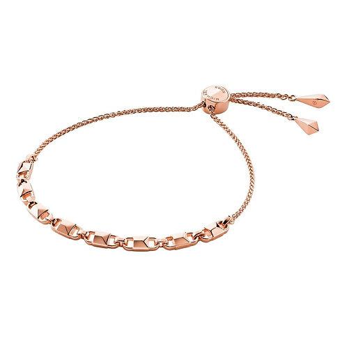 Michael Kors Rose Gold Mercer Link Slider Bracelet