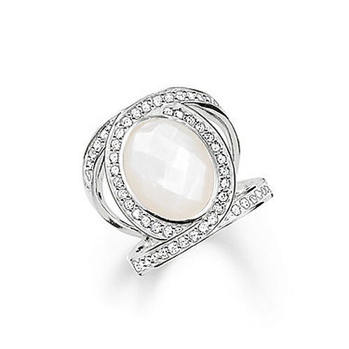 Thomas Sabo Silver Mother of Pearl Cocktail Ring - TR2015-030-14-54