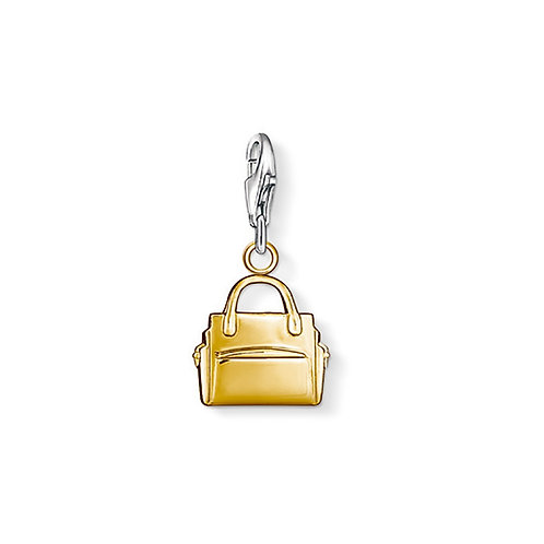 Thomas Sabo Silver Gold Handbag Charm - 0966-413-12