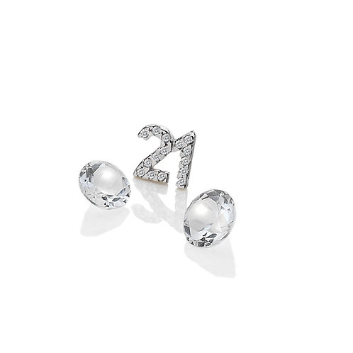 Anais by Hot Diamonds Sterling Silver 21 Birthday Charm - AC059