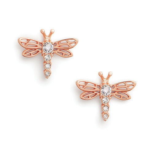 Olivia Burton Dancing Dragonfly Rose Gold Stud Earrings OBJAME146