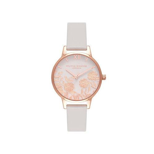 Olivia Burton Lace Detail Rose Gold Blush Bracelet Watch - OB16MV69