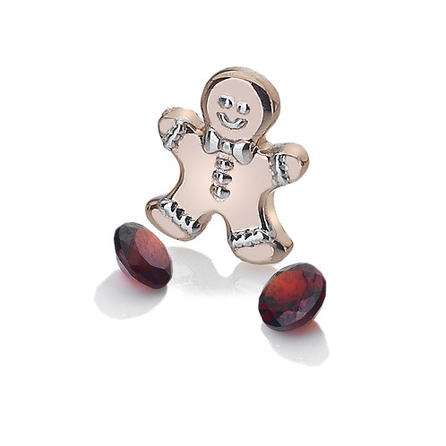 Anais by Hot Diamonds Sterling Silver Rose Gold Gingerbread Man Charm - AC107