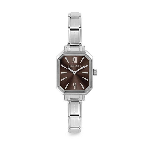 Nomination Composable Stainless Steel Sunray Brown Dial Watch - 076030/020