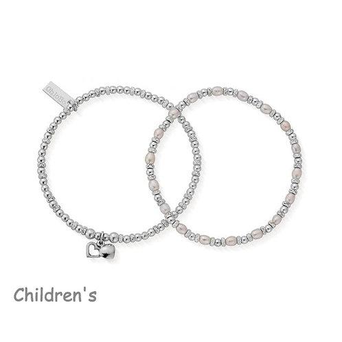 ChloBo Silver Children's Forever Love Set Bracelets - SBSETFOREVER15
