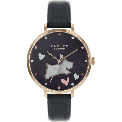 RADLEY Ladies Black Leather Strap Watch - RY2680