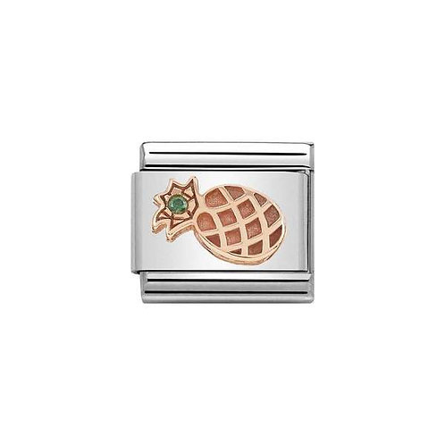 Nomination Rose Gold Pineapple Charm Link - 430305/30