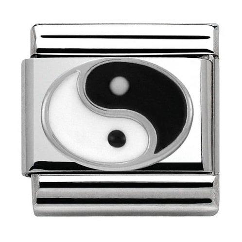 Nomination Silvershine Yin-Yang Circle Charm Link - 330202/14