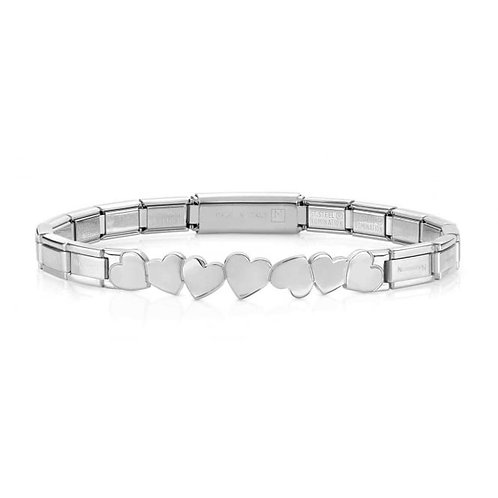 Nomination Trendsetter Love Hearts Symbol Stainless Steel Bracelet 021126/004