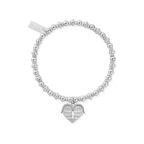 ChloBo Silver Didi Sparkle Heavenly Heart Bracelet - SBDS921