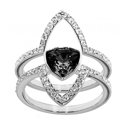 SWAROVSKI Fantastic Ring Set with Clear and Grey Crystal