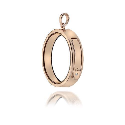Anais by Hot Diamonds Sterling Silver Rose Gold Circle Locket - AL008