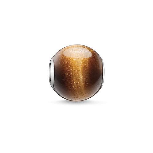 Thomas Sabo Karma Brown Tiger's Eye Stone Charm -K0045-045-2