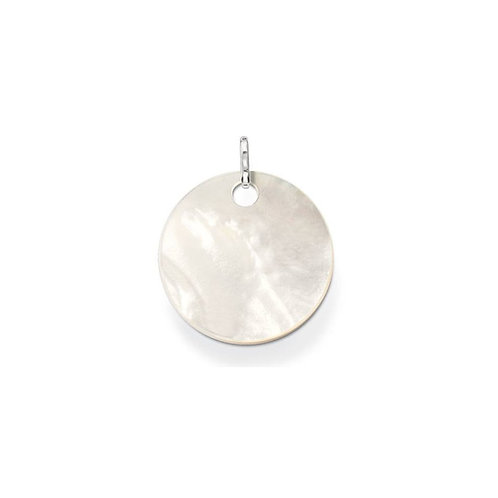 Thomas Sabo Sterling Silver Mother of Pearl Large Disc Pendant - PE429-029-14