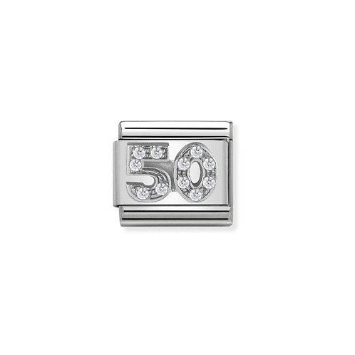 Nomination Silvershine CZ 50 Charm Link - 330304/23